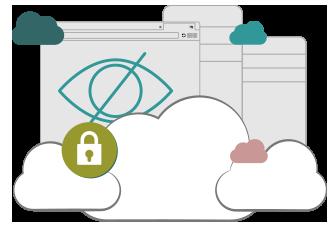 Illustration : un VPN masque l'activité en ligne