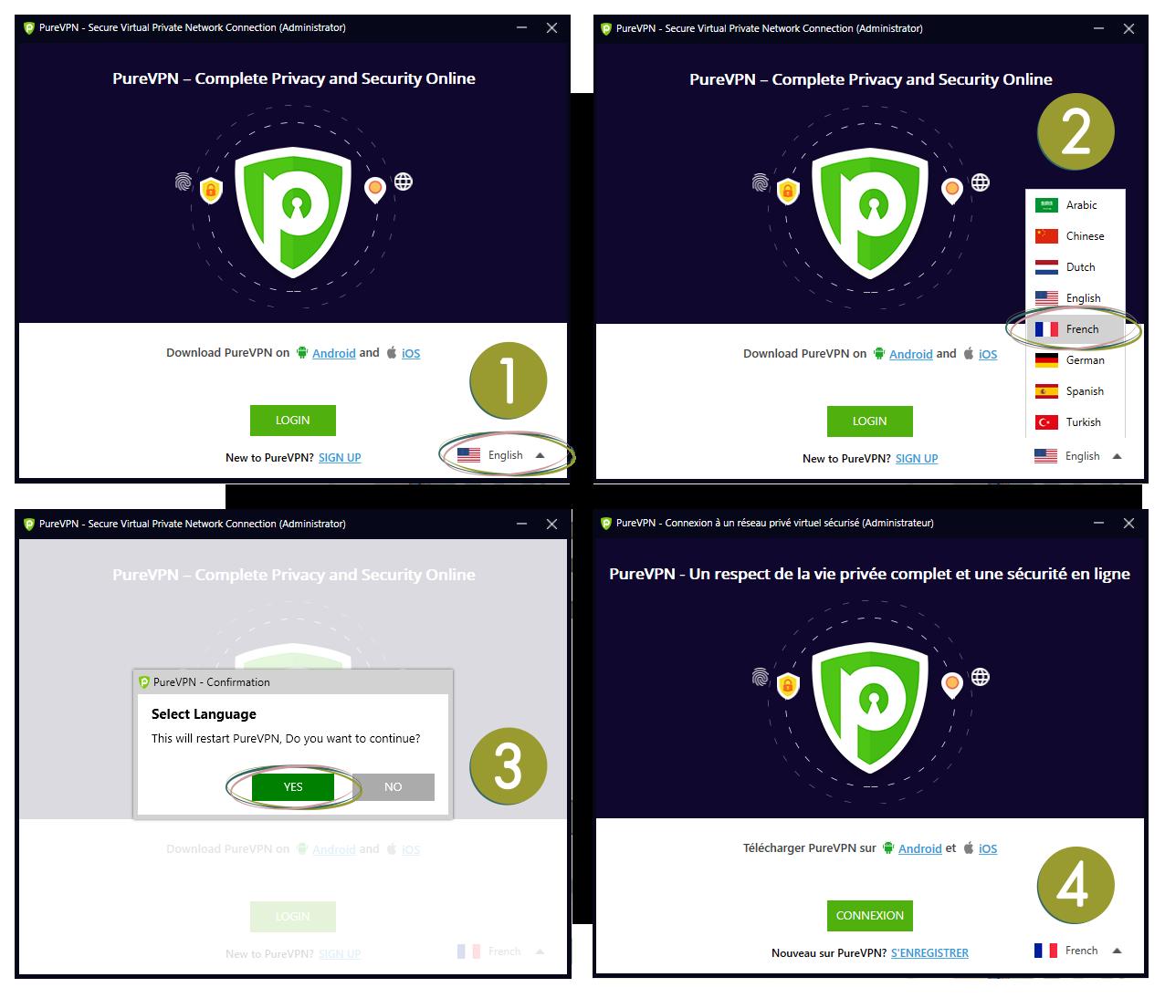illustration VPN pour les nuls : PureVPN en français