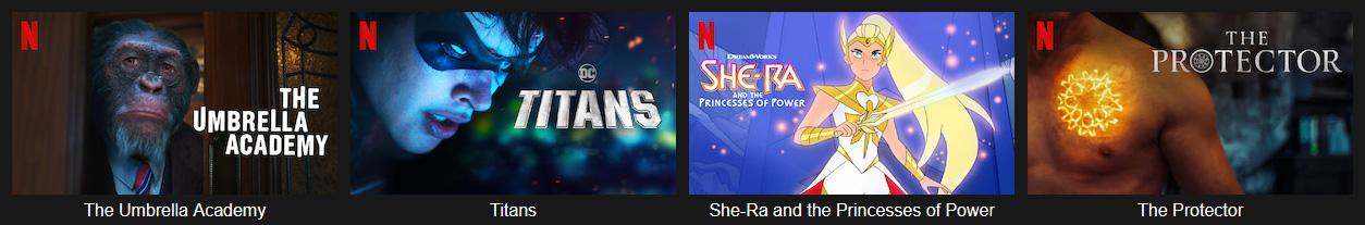illustration : divertissements disponibles sur Netflix