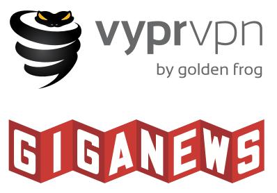 Illustration : logo vypr vpn et giganews