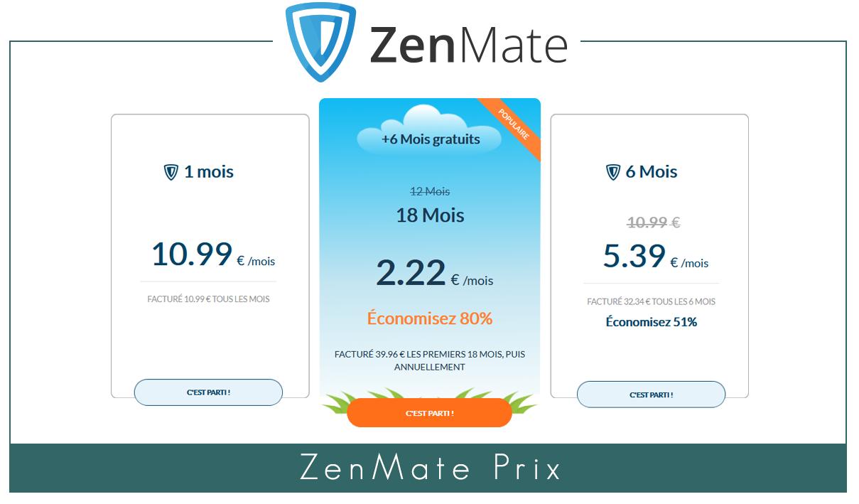 ZenMate Prix