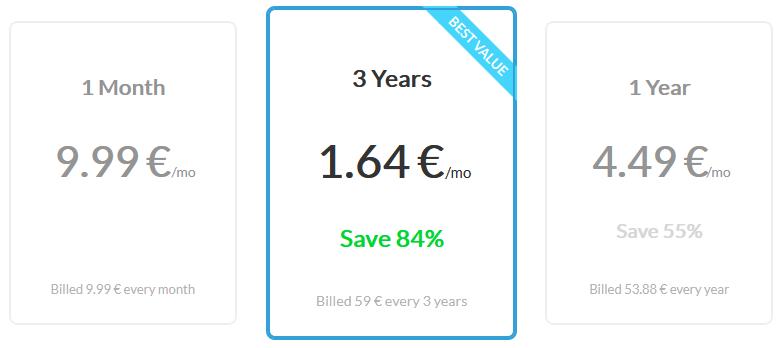 Zenmate nouveaux tarifs 2020